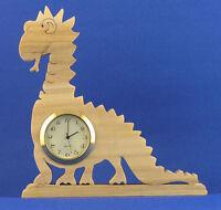 Dinosaur Mini Clock - Hand Cut W/ Choice Of Insert