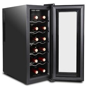 Accurate-Temperature-Control-12-Bottles-Wine-Cooler-Refrigerator-Quiet-Operation