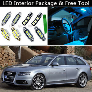Details About 19pcs Canbus Ice Blue Led Interior Lights Package Kit Fit Audi A4 S4 B7 Avant J1