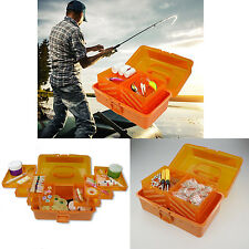 Fishing Tackle Box Storage Case 6 Tray Hooks Lure Gear Organizer Hip Top Handle