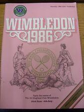 26/06/1986 Tennis Programme: Wimbledon Lawn Tennis Championships - Official Souv
