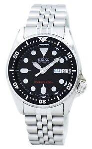 Seiko-Divers-Automatic-200m-21-Jewels-Small-Size-SKX013K2-Men-039-s-Watch