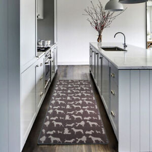 Details about Long Narrow Dog Kitchen Runner Mat Washable Anti Slip Pet  Hallway Runners Rugs