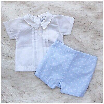 Baby Boy Spanish Romany Style Shirt and Shorts Set.