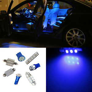 7pcs blue interior led light package kit for nissan altima(2002 2006