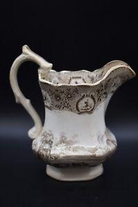 John-amp-Robert-Godwin-English-Staffordshire-The-Dairy-Brown-Transferware-7-034-Jug
