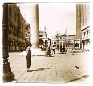 Italia Venezia c1930 Foto Placca Da Lente Stereo Vintage VR16L17n2