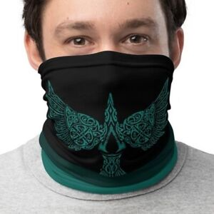 Assassin S Creed Valhalla Logo Bird Raven S Face Mask Neck Gaiter