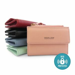 Genuine-Real-Leather-RFID-Blocking-Credit-ID-Card-Holder-Pocket-Wallet-Zip-Purse