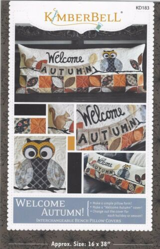 Welcome Autumn Bench Pillow Quilt Pattern by Kimberbell