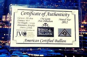 COA-Palladium-99-9-Pure-1-GRAM-Precious-Metal-ACB-Very-Rare-Bullion-PD-Bar-FREE