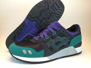 0bc6a0375bc5 ASICS Gel Lyte III Emerald Black Purple White Grey H2B4N Ronnie Fieg ...