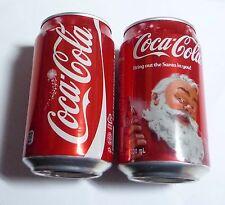 COCA COLA can SINGAPORE 330ml Coke 2013 CHRISTMAS XMAS Open Happiness Santa