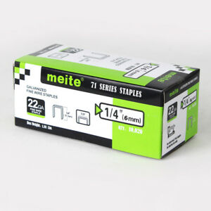meite 22 gauge 3/8-Inch Crown 1/4-Inch leg Galvanized staples upholstery staples