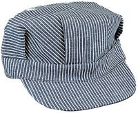 ( Size X- Large ) Hickory Stripe Railroad Cap Engineer Railroad Hat 5448