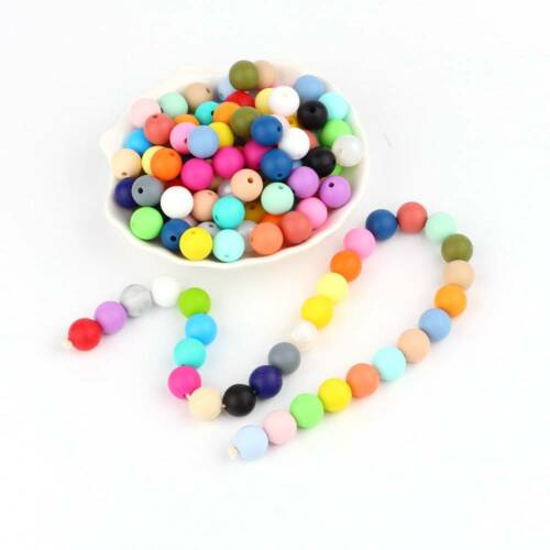 10Pcs 12mm Silicone Loose Beads Baby Teething Teether DIY Necklace Pacifier Clip