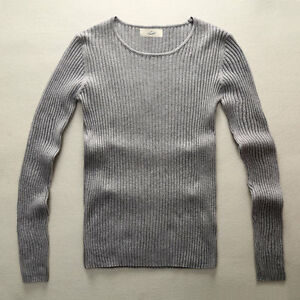 Fashion Men Pullover Knitted Sweater Mens Slim Fit Knitting