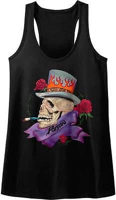 Poison Skull With Top Hat /& Roses Women/'s Tank Sleep Shirt Rock Music