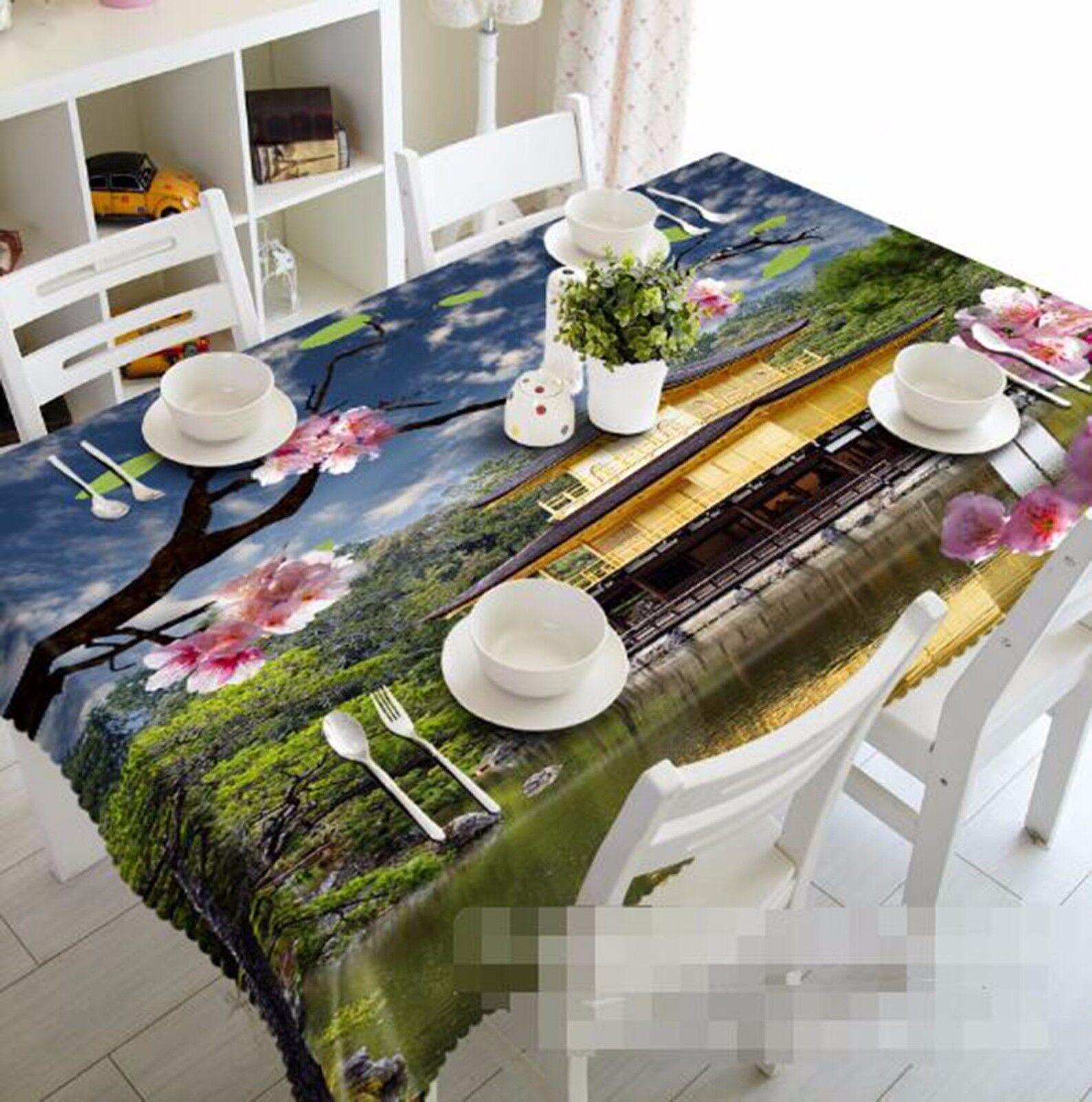 3D House 407 Nappe Table Cover Cloth fête d'anniversaire AJ papier peint Royaume-Uni Citron