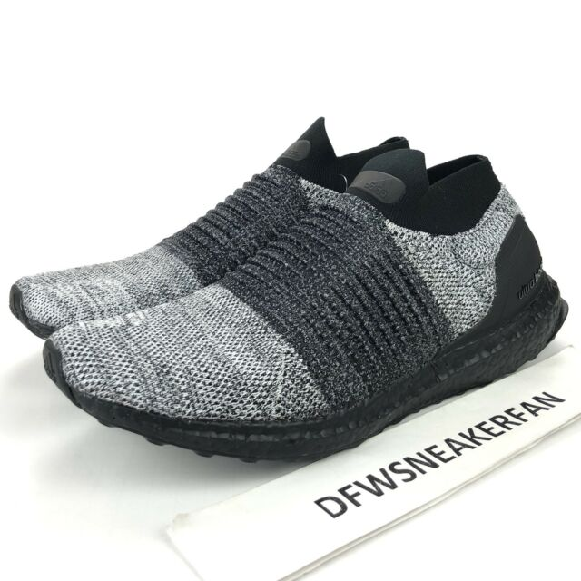 Adidas UltraBOOST Laceless Men's Size 11.5 Core Black Grey Running Shoes BB6137