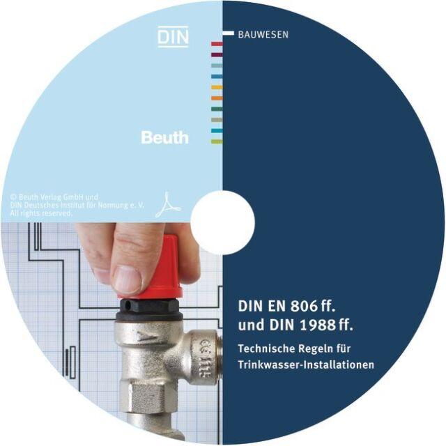 DIN EN 806 ff. und DIN 1988 ff. Technische Regeln für Trinkwasser-Installation..