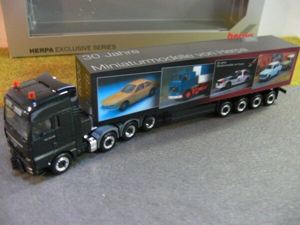 1 87 Herpa 197854 MAN TGX XXL XXL XXL valise-Semi-remorque hépatocellulaire camion 2008 30 ans Herpa 1bc7bf