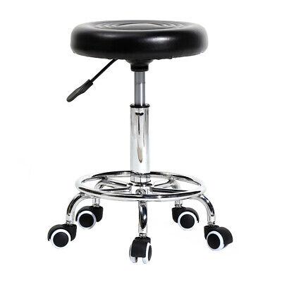 Pleasing Us Black Rolling Adjustable Swivel Round Stool Home Office Bar Chair With Wheels Ebay Creativecarmelina Interior Chair Design Creativecarmelinacom