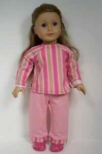 2pc PINK LIME GREEN Pants Shirt-Top Set Doll Clothes For 18 American Girl (Debs)