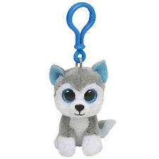 "TY Beanie Babies Boo's Slush Husky Key Clip 3"" Stuffed Collectible Plush Toy NEW"