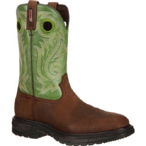 Men/'s Rocky Original Ride Western Soft Toe Work Boots RKW0100