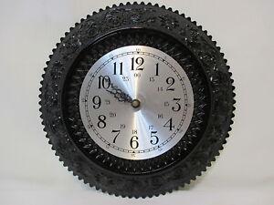 334b5c4a945b Reloj de Pared Vintage vidrio Indiana Tiara Exclusives patrón de ...
