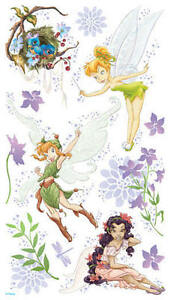 2-PLANCHES-ADHESIFS-STICKERS-DECORATION-FEE-CLOCHETTE-PETER-PAN-CHAMBRE-ENFANTS
