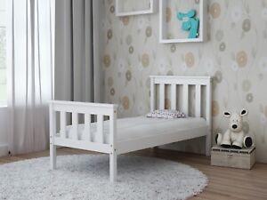 Details About Children Toddler Kids Baby Single Bed Frame Solid Pine Wood Bedroom Furniture