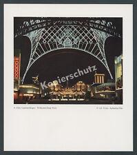 Agfacolor Nachtaufnahme Weltausstellung Paris 1937 Eiffelturm Illumination Messe