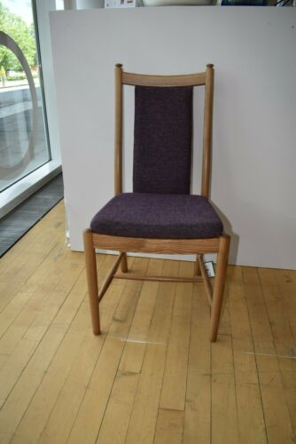 Ercol Pair of 2 Penn Padded Back Chairs 1128LT in C689 BRAND NEW