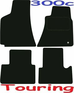 300C Tourer 2006 On Black Black Tailored Floor Car Mats Carpet //Rubber