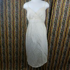 Motherhood Maternity Dress Yellow White Striped Spaghetti Strap Womens Size M Ebay