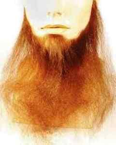 Image is loading 16-034-LONG-FULL-FACE-BEARD-HUMAN-HAIR- & 16