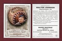 Sheldon BASEBALL ART card: #7 WALTER JOHNSON, Senators Advertising/Promotional