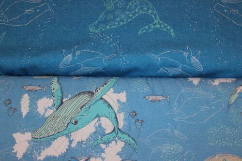 Lillestoff Das Lied der Wale Jersey blau Tante Gisi Tiefsee Unterwasser Maritim