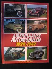 Elmar Book Amerikaanse Automobielen 1929 - 1949 Frank van der Heul (Ned) (JvH)