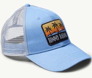 0bc6e4d9e9b3bf Tommy Bahama Adjustable Trucker Cap Hat White/Light Blue NWT Free S ...