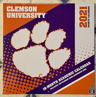 CLEMSON TIGERS Academic 2021 CALENDAR New Factory Shrink Wrapped