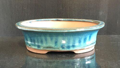Brand New Top Quality Bonsai Pot Ceramic Glazed Bonsai Pots Oval Turquoise