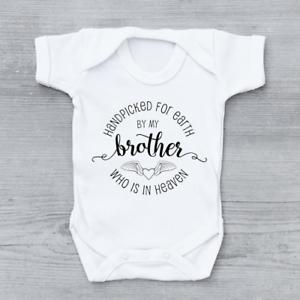 Sélectionnées pour la terre par mon frère dans le ciel Cercle unisexe bébé grandir Body