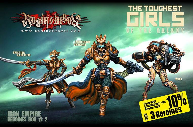Raging Heroes Iron Empire Heroines Boxed Set