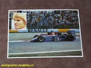 Stefan-JOHANSSON-Honda-Spirit-201C-1983-alte-old-ITA-PostKarte-card-RAR