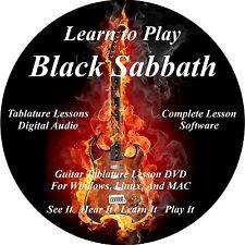 Black Sabbath Guitar TABS Lesson CD 176 Songs + Backing Tracks + BONUS