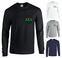 Lambda Chi Alpha Fraternity Long Sleeve Pocket Shirt Green Letters -