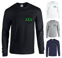 Lambda Chi Alpha Fraternity Long Sleeve Pocket Shirt Green Letters -